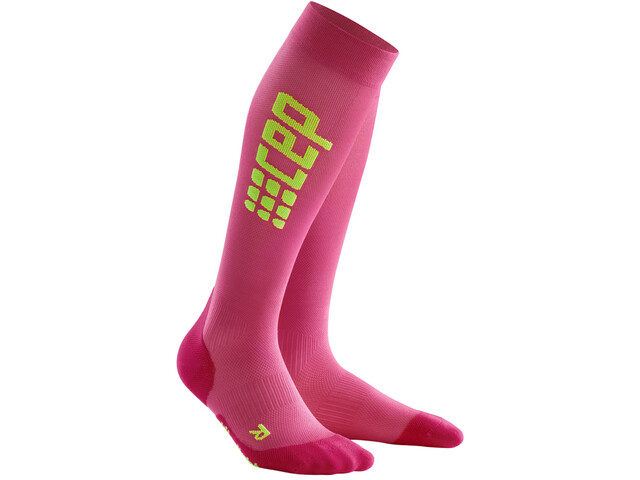 cep Pro+ Run Calcetines Ultraligeros Mujer, electric pink/green